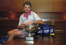 Stanislas Wawrinka Signed 12X8 Photo 2015 FRENCH Open AFTAL COA (A)