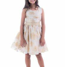 BONNIE JEAN® Little Girls' 5, 6 Gold Metallic Sequin Holiday Dress NWT $72