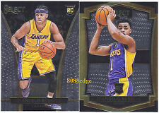 (2)2015-16 PANINI SELECT ROOKIE CARD: D'ANGELO RUSSELL #162 + #226 LAKERS RC LOT