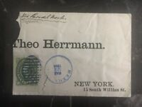 1884 Mexico Commercial cover To Theo Herman Manufacturer In  New York