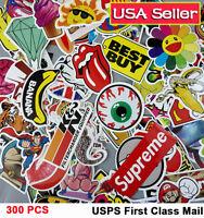 300 Lot Random Vinyl Laptop Skateboard Stickers bomb Luggage Decals Dope Sticker
