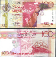 SEYCHELLES 100 RUPEES ND 2001 P 40 BLACK SERIAL NUMBER UNC