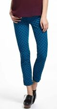 AG Adriano Goldschmied The Stevie Ankle Corduroy Blue Polka Dot Jeans Size 27