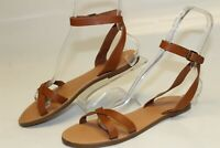 Madewell EUC Womens 10 Brown Leather Gladiator Sandals Flats Shoes