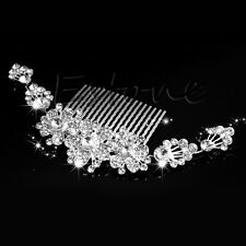 Bridal Wedding Crystal Rhinestone Flower Hair Clip Comb Pin Headband New