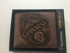 Guinness leather wallet brown men's stout beer Dublin Ireland Christmas gift