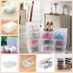 10 X Scatole Scarpe Scarpiera Shoe Box Scarp in Plastica Trasparente