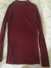 Ladies Ribbed Long Sleeve Top,  Size 8