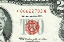 ** STAR ** $2 1963 (( EXTREMELY FINE ) United States Note ** Paper Currency