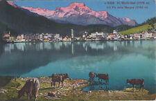 AK kolorierte Ansichtskarte St. Moritz-Bad Schweiz 1900 Totalansicht Postkarte