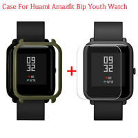 Case Cover Shell +Screen Protector For Xiaomi Huami Amazfit Bip Youth Watch UK