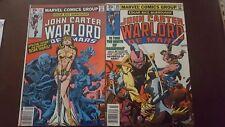Edgar Rice Burrough's John Carter Warlord of Mars # 10 & 11 Marvel Comics Group