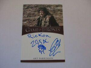 2020 Game of Thrones The Complete Series ART PARKINSON Inscription Autograph