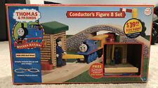 Thomas & Friends Wooden Railway Conductor's Figure 8 Set 25 Piece Used In Box