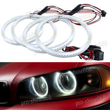 White LED Devil Angel Eyes Halo Rings DRL Headlights For Opel astra H 2004-2011
