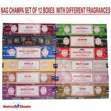 Satya Sai Nag Champa Incense Sticks 15g Sandalwood Midnight Super Hit Jasmine