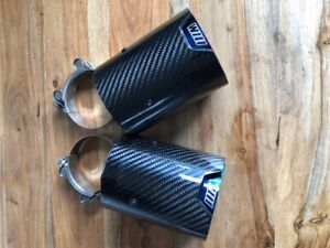 2 BMW M Performance Carbon Fibre Exhaust Tips M140I, M240I and other variants
