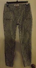 PER SE by CARLISLE Women's Navy Stripe Slim Leg Pants Size 2 EC