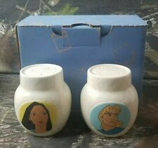 Treasure Craft Disney Pocahontas Salt And Pepper Set In Box John Smith DH