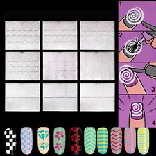 New Chic DIY 12 Sheets French Manicure Nail Art Tips Tape Sticker Guide Stencil