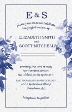 Wedding Invitations Flowers Border 50 Invitations & RSVP Cards Any Colors