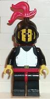 LEGO Minifigure - CAS175 - CASTLE -  Breastplate - Black, Black Legs, Red Plume