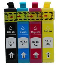 T0715 Multipack 4 Ink Cartridge Set for EPSON SX610FW Cheetah TO715 NON OEM