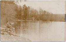 1907-15 RPPC Lake Carey PA Dock Tunkhannock Wyoming RARE REAL PHOTO DB Postcard