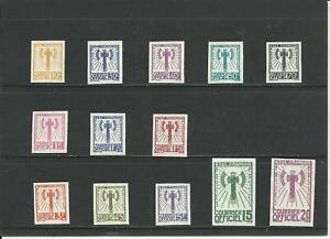 FRANCE - CINDERELLAS - n.13 LABELS OF OFFICIAL SERVICE 1943 - NOT ORIGINAL