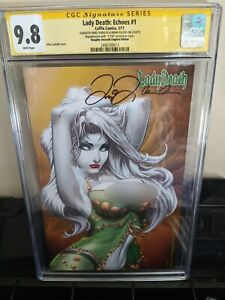 ULTRA RARE: Lady Death Echoes #1 Naughty Emerald Lingerie Ed. 17/99 Mike DeBalfo