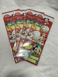 4 Packs - Disney Mickey Mouse & Friends Peel N' Stick Gift Tags - Christmas (48)