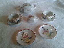 Vintage 8 Piece Child's Floral Rose Tea Set - Made in Japan