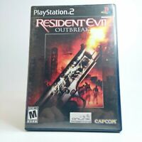 Resident Evil: Outbreak Sony PlayStation 2 2004 LOOK Free Same Day Shipping