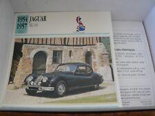 FICHE CARD car  GB jaguar  XK 140 1954 1957