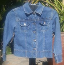 GUESS Jeans Girl's Studded Blue Denim Jean Jacket Coat Youth Size Large L