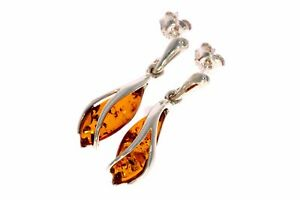 Designer Earrings in Cognac