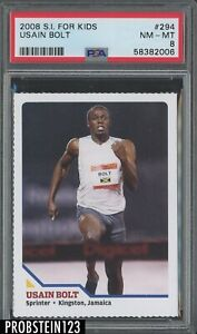 2008 Sports Illustrated For Kids Olympics #294 Usain Bolt RC Rookie PSA 8 NM-MT