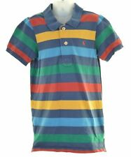 JOULES Boys Polo Shirt 9-10 Years Multi Striped Cotton  IN31