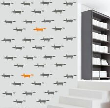Foxes Wall Stickers Pattern Set of 32 Home Decor Art  Removable Vinyl  Decal