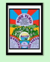 PINK FLOYD POSTER  CRYSTAL PALACE 1971 PROMO  LARGE 70X50 cm PRINT