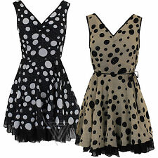 Party 50's, Rockabilly Sleeveless Dresses for Women