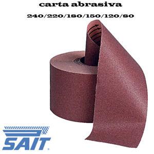 CARTA ABRASIVA  CARTA VETRATA SAIT NASTRO ROTOLO 2000 PER LEGNO MURI METALLO CAR