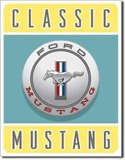 Ford Mustang Klassik Pony USA Metall Deko Schild