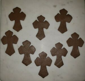 chrome heart cowhide leather cross CH patches lot