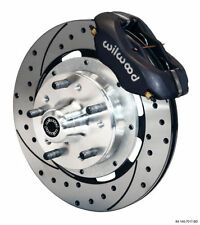 FORD XY FRONT BRAKE KIT 4 SPOT DRILLED AND SLOTTED XR-XD WILLWOOD