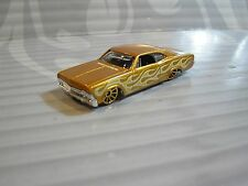 HOT WHEELS  loose = `65 CHEVY IMPALA  = GOLD w/t flames