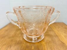 Set of 4 Indiana Glass Pink Depression Glass SoupSaladCereal Bowls in the New Madrid Pattern