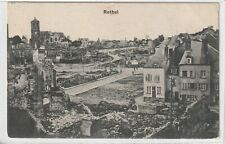 Ansichtskarte Rethel - Zerstörte Stadt/Stadt nach Bombardierung - Feldpost 1917