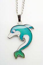 Sea Gems Dolphin Colour Change Mood Necklace / Pendant with 16.5 inch Chain