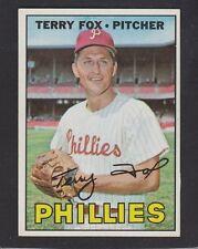 1967  TOPPS  BASEBALL  # 181  TERRY FOX  EX+   INV A1132